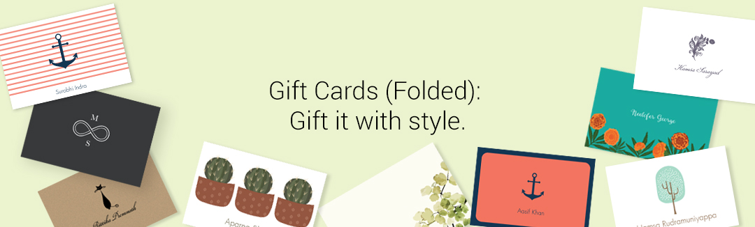 GIFT CARDS FOLDED