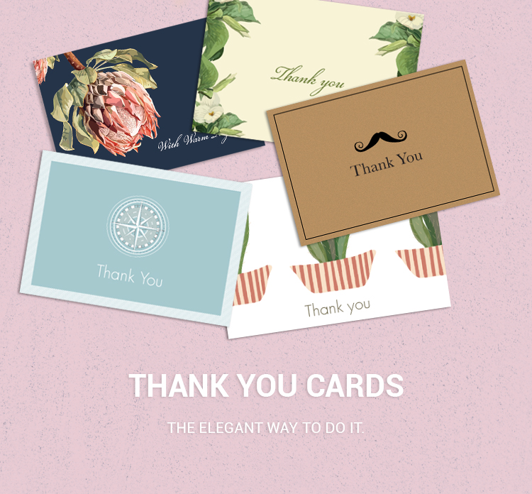 Personalised Thank You Cards Paper Design Co